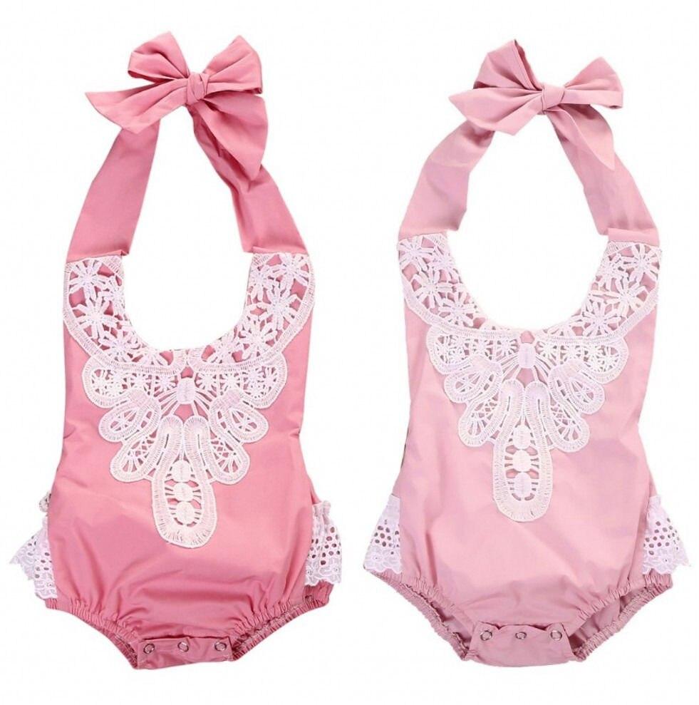 Naujagimių kūdikių kūdikių mergaičių nėrinių gėlių - Kūdikių drabužiai - Nuotrauka 5