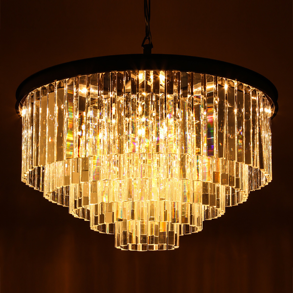 Vintage Crystal iron Chandelier Living Room lustres de cristal Decoration E14 lights and Chandeliers Home Lighting Indoor Lamp luxury crystal chandelier light living room lamp lustres de cristal indoor lights crystal pendants for chandeliers free shipping