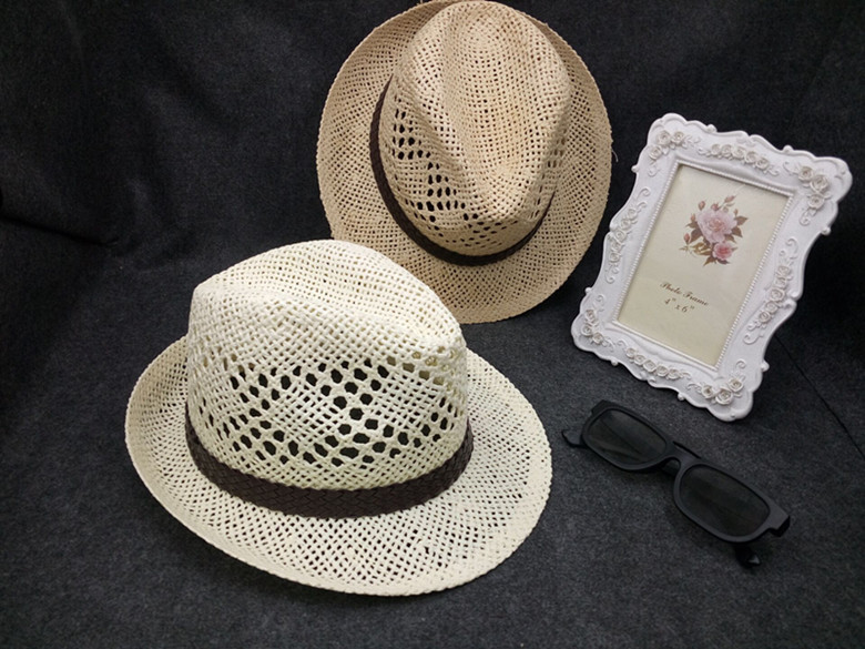 cc276cf82ce 2017 new in women and men summer sun hat straw casual trilby hat beach hat  -in Sun Hats from Apparel Accessories on Aliexpress.com