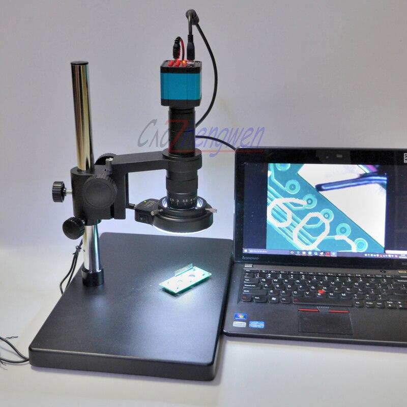 FYSCOPE 14MP HDMI USB промышленный лабораторный видео микроскоп набор камеры + объектив 180X C MOUNT + 144 светодиодных ламп