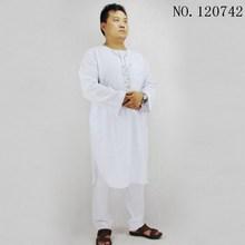 Latest Islamic clothing men TR Cotton and linen Men's Pakistani clothes Two piece suit Muslim men prayer clothes