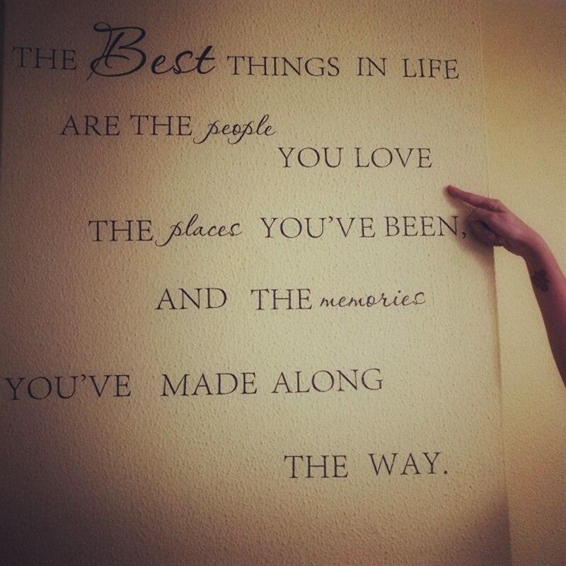 Najboljše stvari v življenju Vinilne stenske nalepke ~ Love - Dekor za dom - Fotografija 6