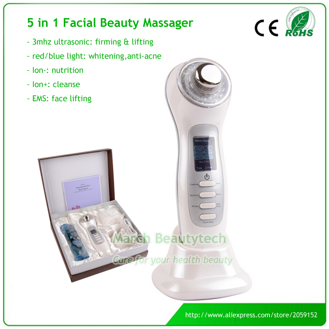 LCD Display Multifunction Skin Expert Portable Electric Rechargeable Negative Ion Beauty Facial Massager lc171w03 b4k1 lcd display screens