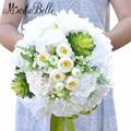Bruidsboeket 2016 Свадебный Букет Невесты Искусственный Белая Роза Цветок Невесты Букеты Свадебные Аксессуары