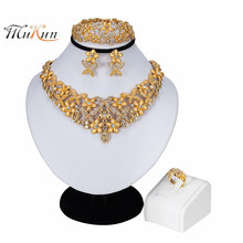 MUKUN 2019African Beads Jewelry Set Luxury Wedding Sets For Brides Women Costume Jewellery Statement Choker Necklace
