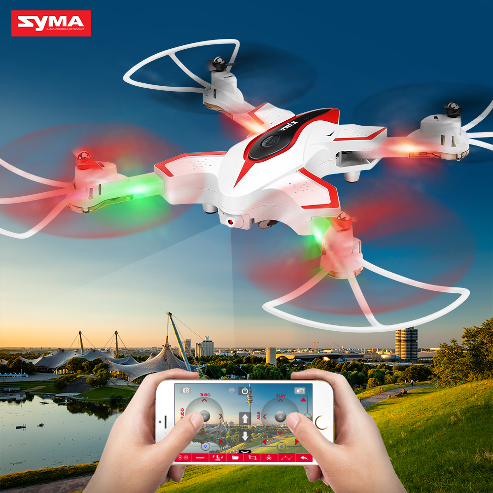 SYMA Official X56W RC Drone Folding Quadrocopter With Wifi Camera Real-time Sharing Flashing Light RC Helicopter Drones Aircraft 2