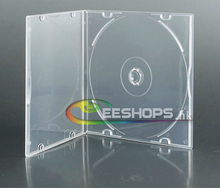 Best Cheap Ultra-thin 12cm Blu-ray BD DVD CD Disc Single Disk Case High Quality Transparent Plastic Box Lot 10pcs Free Shipping