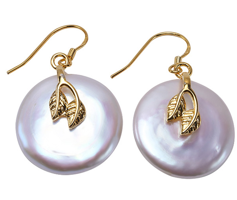 Véritable perle boucles d'oreilles 925 argent 22mm énorme pièce bouton en forme de perle de culture d'eau douce blanche boucles d'oreilles bijoux de mode 2018