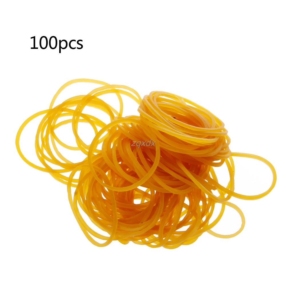 100PCS/Bag High Quality Office Rubber Ring Rubber Bands Strong Elastic Stationery Holder Band Loop School Office Supplies July