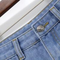 BONJEAN Europe Blue Crimping Denim Shorts For Women 2019 Summer New Brand Trendy Slim Casual Plus Size Womens High Waist Shorts