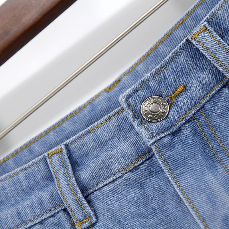 Blue Crimping Denim Jeans Shorts For Women 12