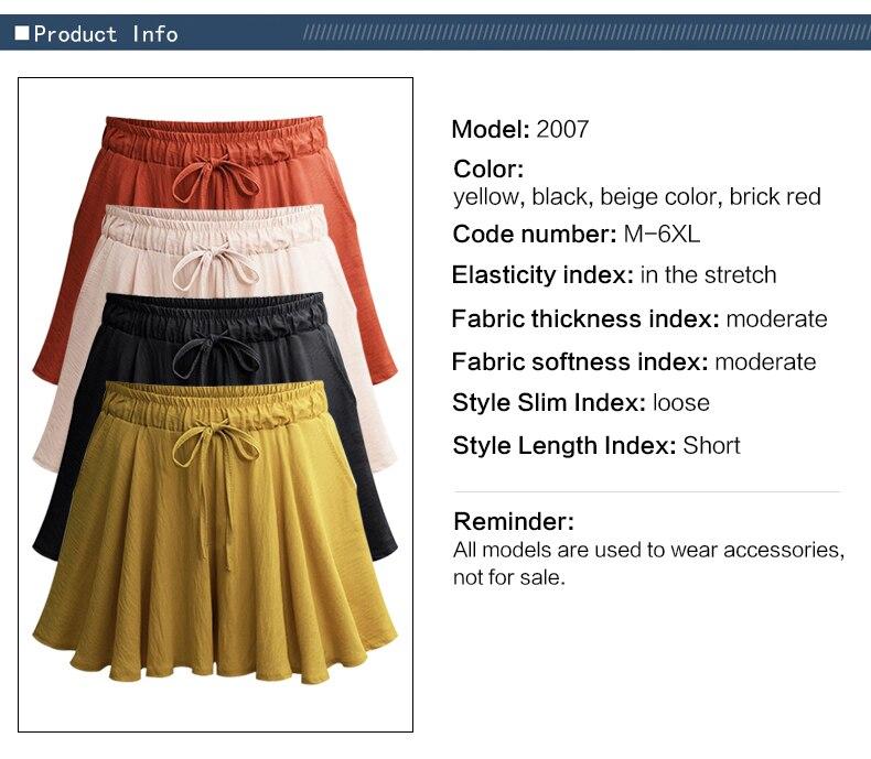 896b9e7323 6 unids set bragas de las mujeres de gran tamaño de mujer ropa interior de. 2019  verano talla grande 6XL mujeres pantalones cortos ...
