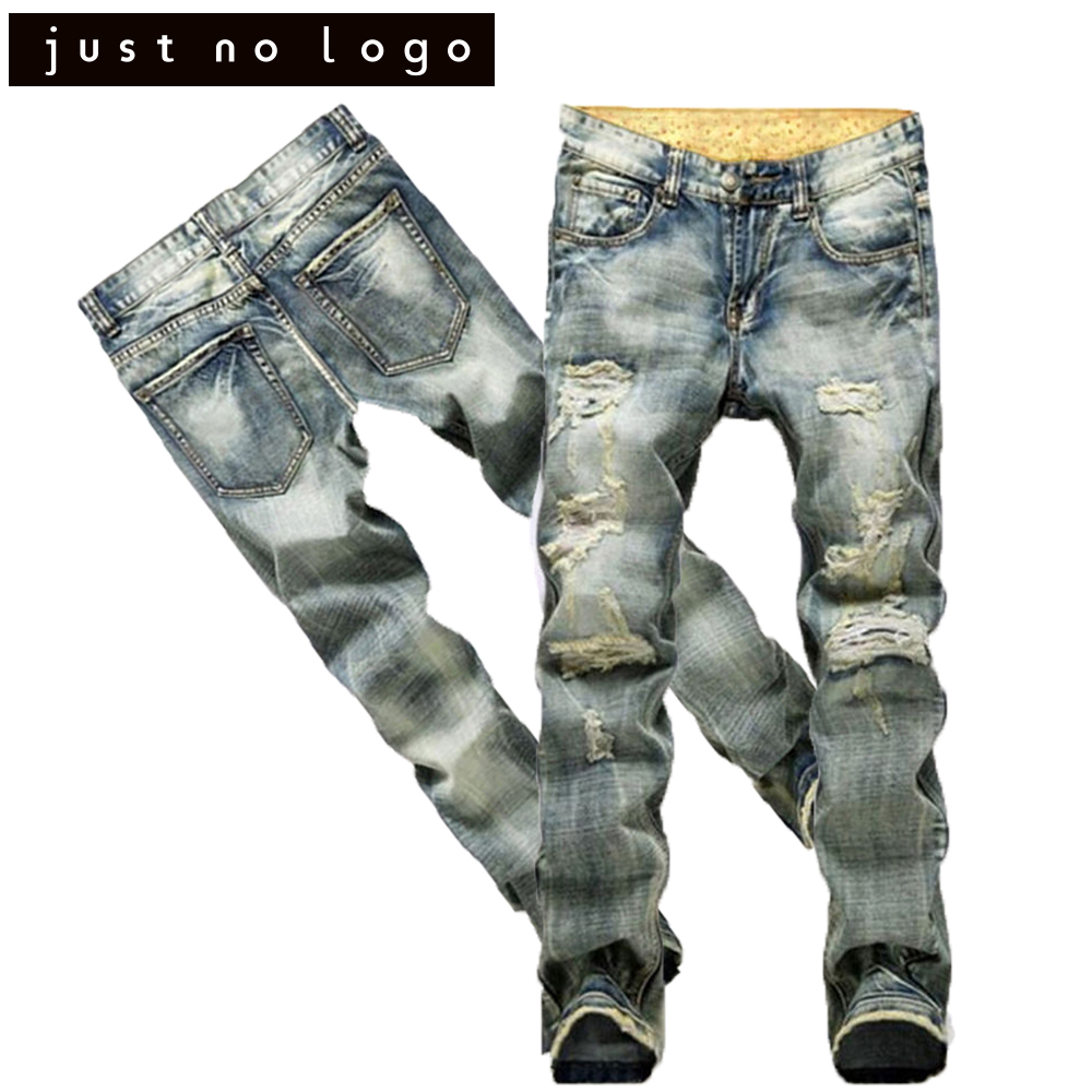 2017 Men/Male Designer Fashion Biker/Motorcycle Denim Jeans Long Trousers Slim Fit Straight Destroyed Ripped Distressed Pants male slim fit pants for men fashion motorcyle men s straight jeans denim biker trousers male famous brand plus size 34 52 e492