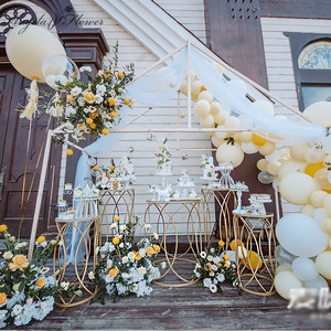Image 4 - 5 PCSงานแต่งงานProps Party Dim Sumเค้กอะคริลิคเหล็กทรงกระบอกโต๊ะPre ฟังก์ชั่นพื้นที่Decorงานแต่งงานกรอบชั้น