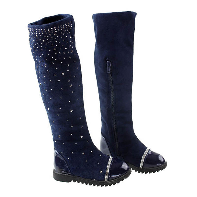 426432dac4a8 Snow Boots Girls High leg Boots Fall Winter Knee Crystal High Boot Kids  Newest Fashion Wholesale Free Ship Hot Sale Shoes-in Boots from Mother    Kids on ...