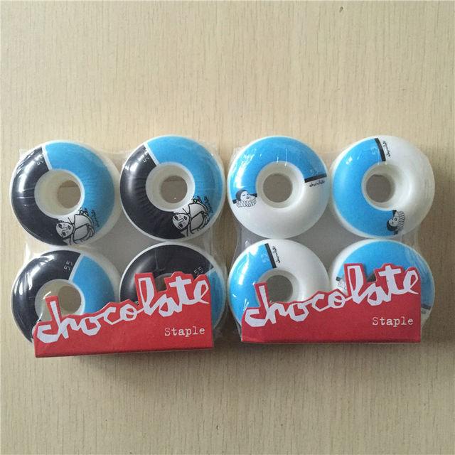96845e004b71b 53mm 55mm 4 pçs set 101A EUA Chocolate Pro Rodas de Skate para o Skate
