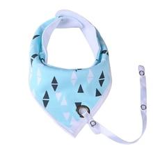Baby Bibs Boy Girl Print Water Absorb Bib Burp Cloth Triangle Cotton Baby Scarf Burp Baby Feeding Accessories 1