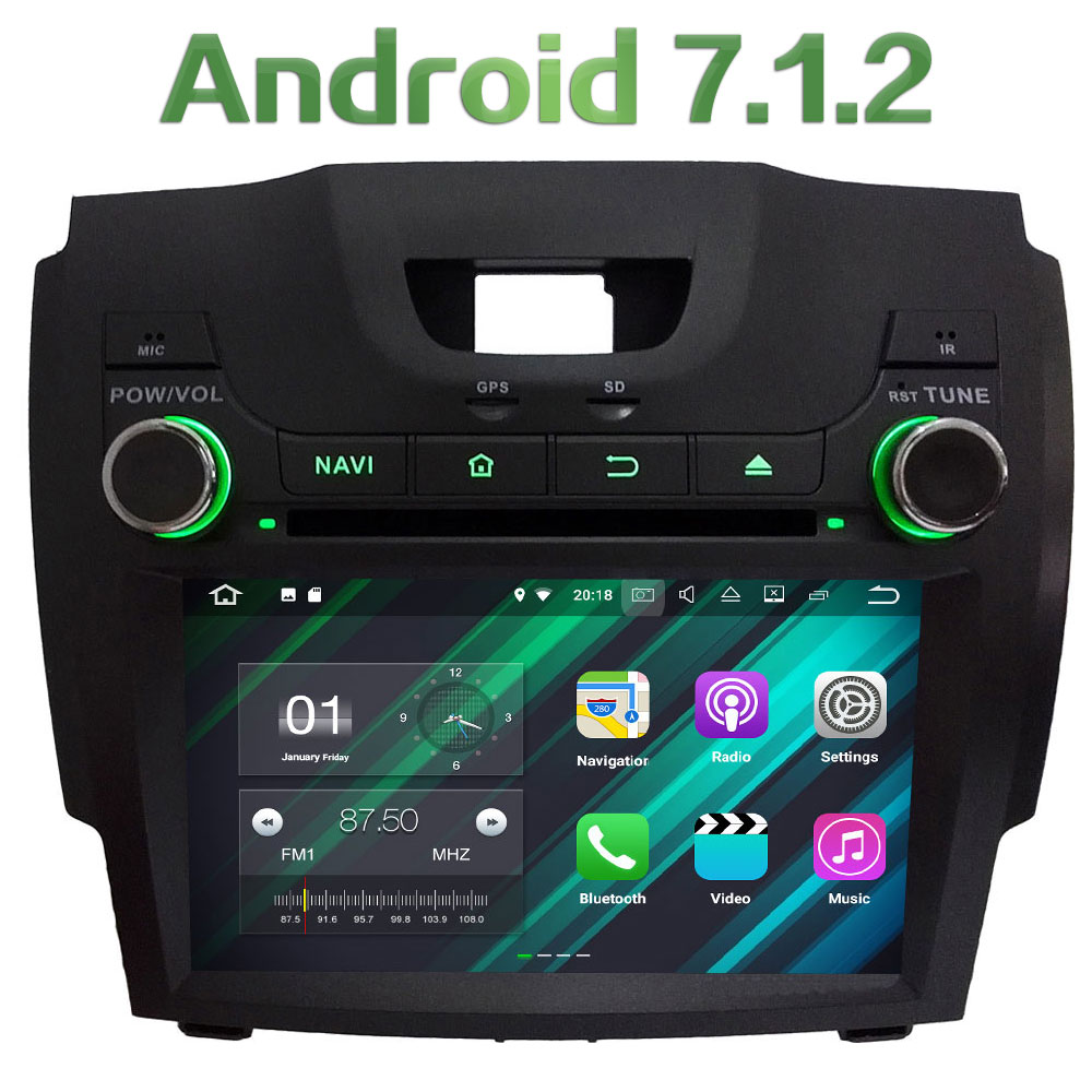 4G WIFI Android 7.1.2 2GB RAM DAB+ Car DVD Multimedia Player Radio For Chevrolet S10/Isuzu D-Max/Trailblazer LT/Colorado/LTZ цена