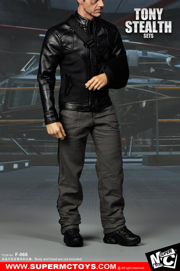 1/6 scale Figure Accessory Iron Man Tony Stealth Clothes sets for 12 Action figure doll. body and head are not included