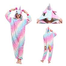 Women Kigurumi Unicorn Pajamas Sets Flannel Cute Adults Animal Winter unicornio Nightie Pyjamas Sleepwear Homewear