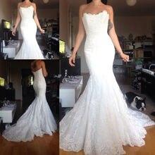 LAYOUT NICEB SHJ664 Backless Mermaid Wedding Dress