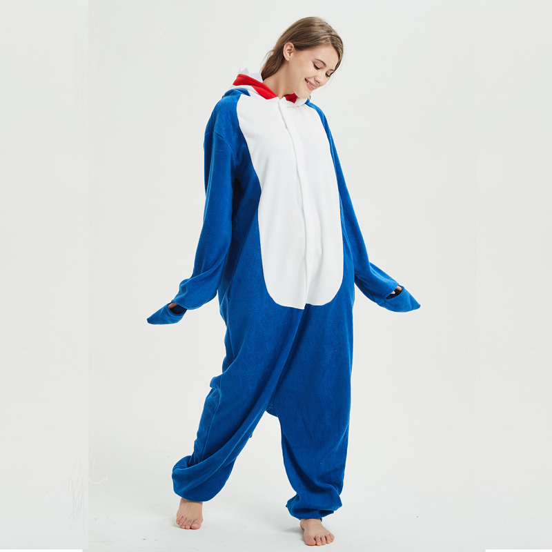 blue shark adult onesie