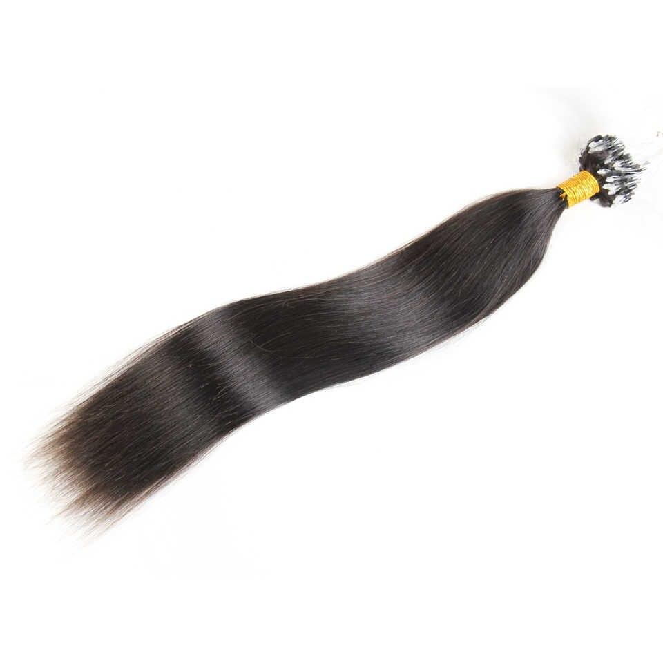 Мода плюс микро петля кольцо для наращивания волос 1 г/прядь 100 г микро цепочка с бусинами человеческие волосы для наращивания цветные пряди волос 18 ''-24''