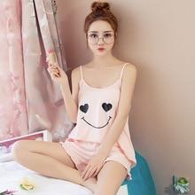 Women Clothes for Summer Shorts Sets V-Neck Sleepwear Satin Pajama Women's Pajamas Spaghetti Strap Lace Pajama Set
