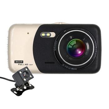"Hot 4"" IPS Screen Car dvr Dash Cam 1080P Full HD  Dual Lens Video Registrator Recorder With Backup Rearview Camera G-Sensor"