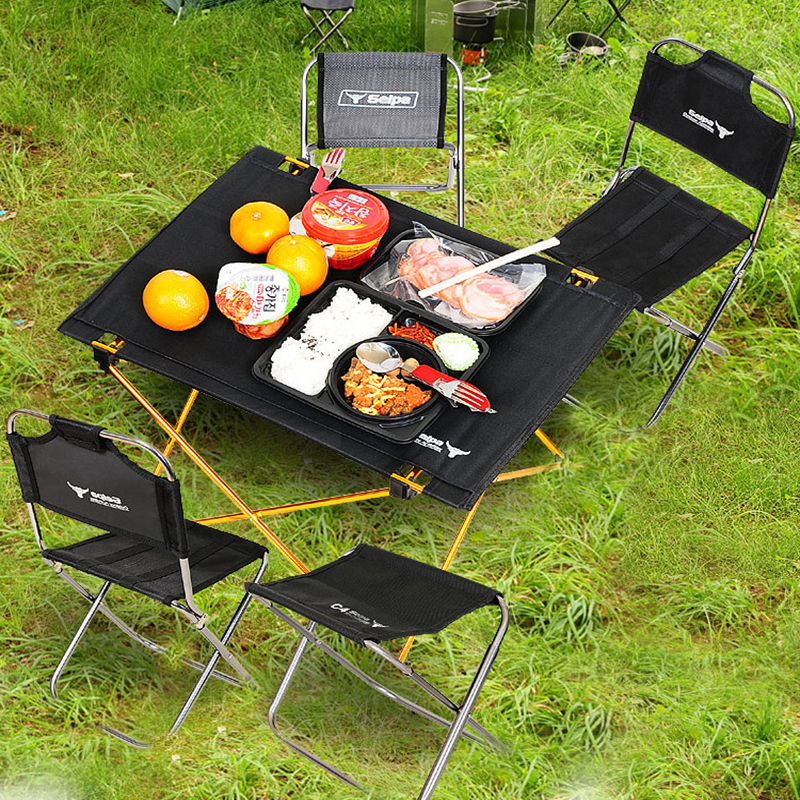 Outdoor Camping Portable Folding Table Aviation Large Aluminum Picnic Barbecue Table Casual Table Table Wholesale outdoor camping hiking picnic bags portable folding large picnic bag food storage basket handbags lunch box keep warm and cold