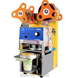 Guaranteed 100% New 220V Fully Stainless Steel Automatic Plastic Cup Sealer Bubble Tea Cup Sealing Machine
