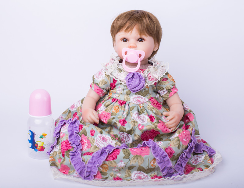 40cm New Arricval Soft Silicone Reborn Babies Dolls Toys Newborn Girl Baby Doll For font b