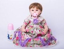 40cm New Arricval Soft Silicone Reborn Babies Dolls font b Toys b font Newborn Girl Baby