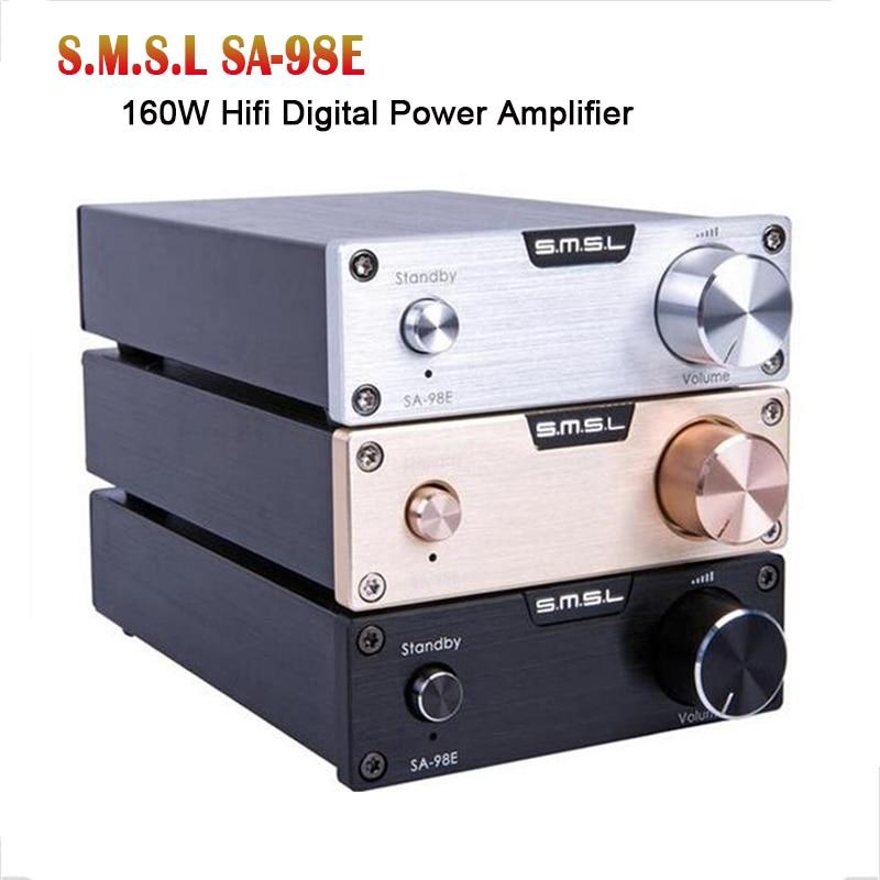 Amplificador de potencia de clase D para el hogar SMSL SA-98E TDA7498E Amplificador de potencia de alta fidelidad de 160W Amp