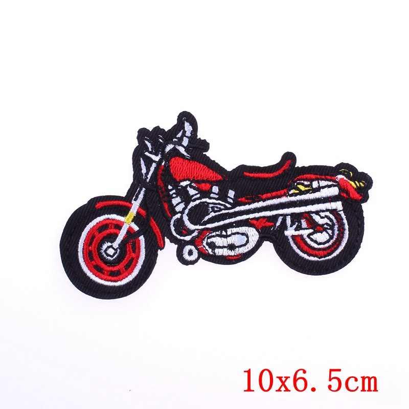 Prajna Remendo Motociclista Motocicleta Colorido Bordado de Ferro Em Patch Para O roupas de Punk Presente Homem de Pano Do Bebê Pano Sew Jaqueta Biker DIY