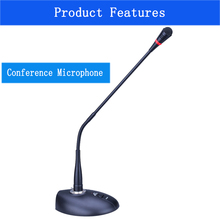 Bil ED-990 Profissional Flexível Desktop Standing Microfone Da Conferência Gooseneck Microfone Condensador de Alta Sensibilidade