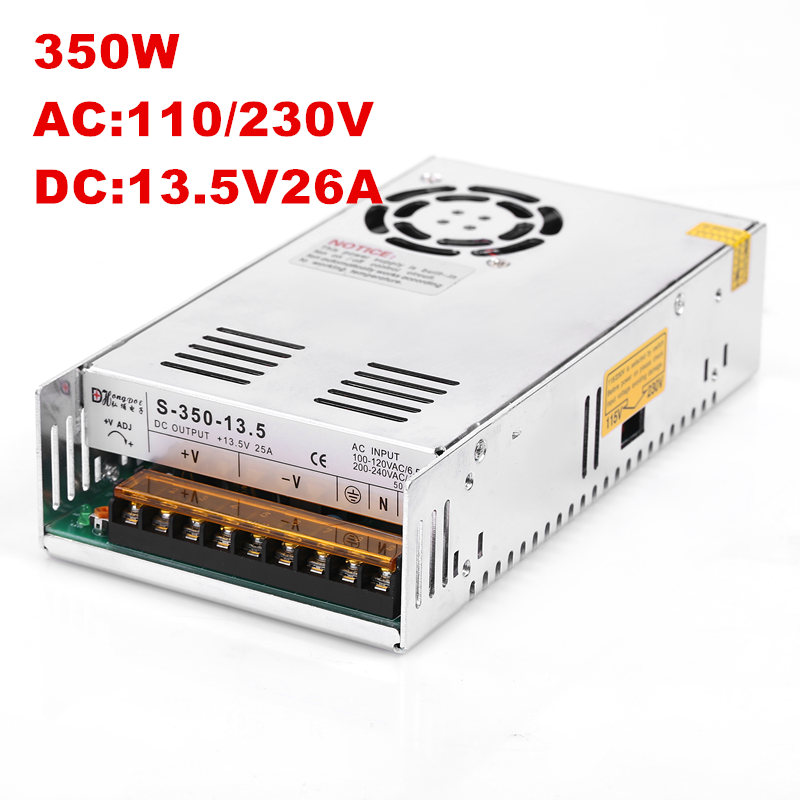 20PCS AC100-240V input 350W 13.5V power supply 13.5V 25A power supply 13.8V 350W S-350-13.5 20pcs lot ntd25p03lg 25p03lg 30v 25a