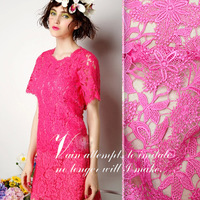 Water Soluble Lace Embroidery Cloth Hollow Three dimensional Flower Dress Coat Fabric Cloth DIY