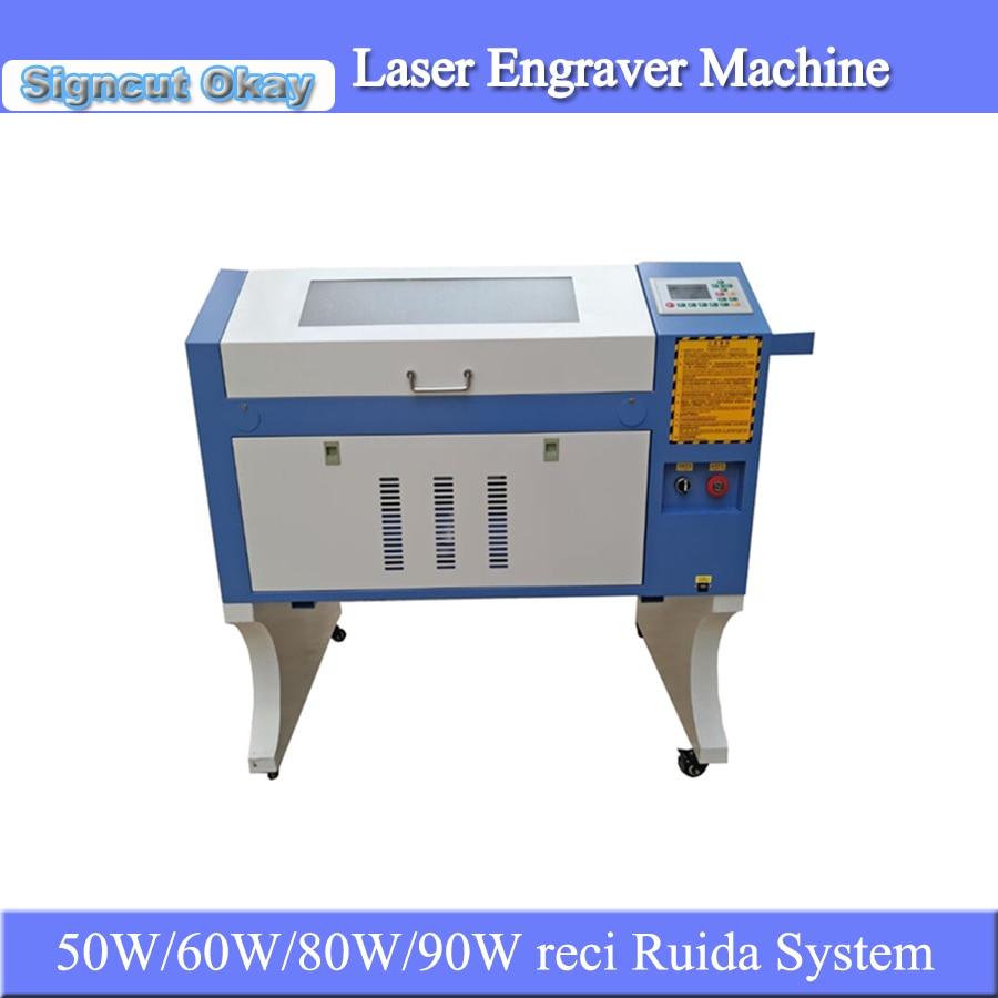 JIN ZHI YIN 60W 80W 90Wreci Co2 Laser Engraving Machine Ruida System 4060 6040 For Fabric Rubber Stamp Plywood Cnc