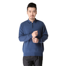 2017 spring men casual turn-down neck cashmere knitted pullover sweater with buttons – DL8862