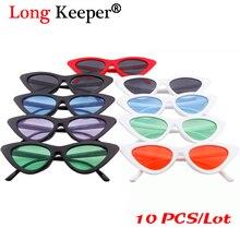 5e3bdef468 Long Keeper Triangle Small Cat Eye Sunglasses Women Men Sexy Sun Glasses  UV400 Eyewears Wholesale 10pcs