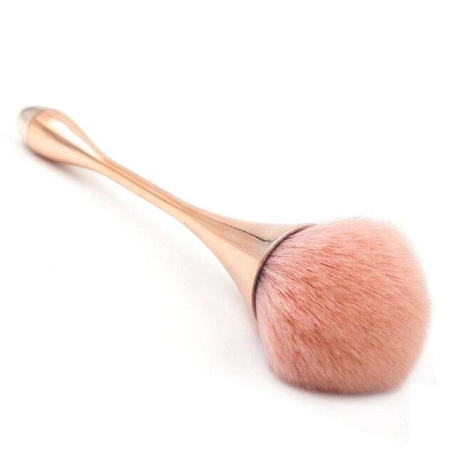 Brocha de maquillaje de polvo simple de Color rosa de 4 colores, brocha de rubor suave y densa para brocha de ventilador de maquillaje compacta holgada herramientas de belleza