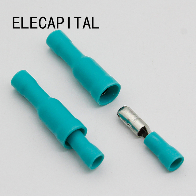 Hot 50 X Green Male Female Bullet Connector Crimp Terminals Wiring ...