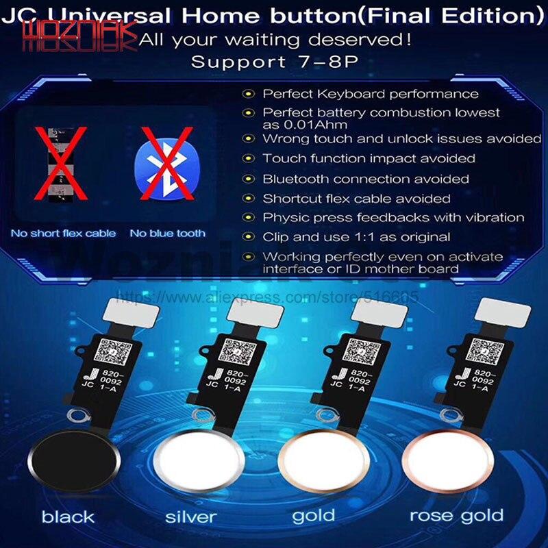 JC NOVA Versão Final Retorno Fingerprint INICIO Retornar Chave Ligar acessórios de Manutenção para IPHONE 7G 7 P 8 Siri G 8 PLUS Sem Bluetooth
