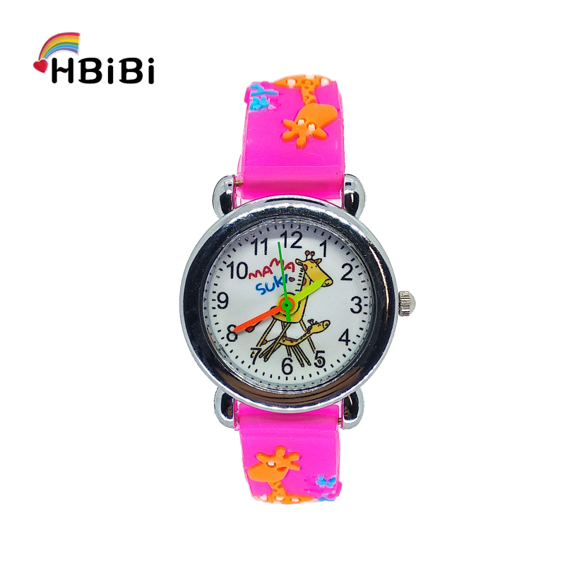 HBiBi Brand Children's Study Watch Cartoon Giraffe Children Watch For Boys Girls Clock Kids Outdoor Sports Quartz Wrist Watches