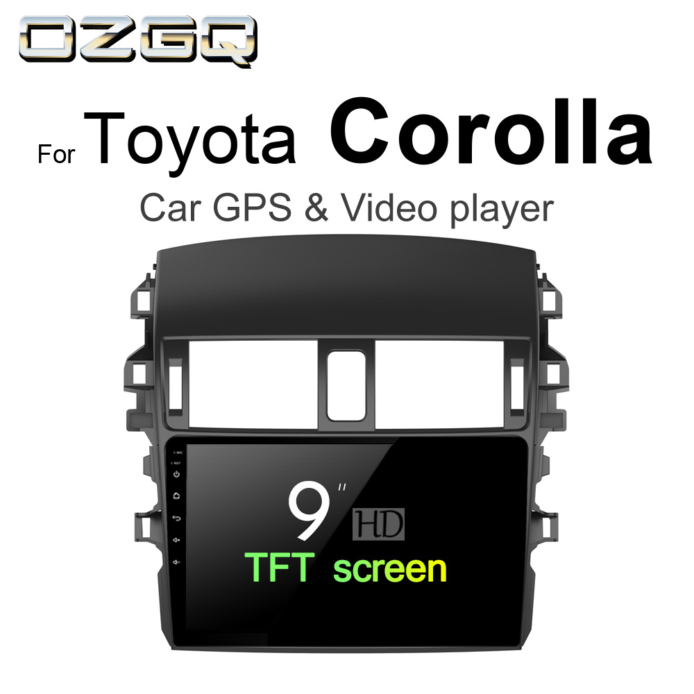 OZGQ Android 7.1 Car Player For Toyota Corolla 2007-2015 Car GPS Auto Navi BT Radio TV Audio Video Music Stereo