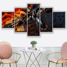5 Piece Wall Art Paintings Metal Wolf Chaos XD Video Game Poster Sticker Canvas GUNDAM HD Picture