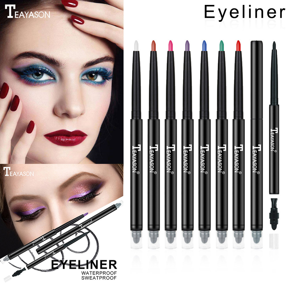 12 Color Women Double Head Eye Shadow Eyeliner Pencil Waterproof Colorful Eye Shadow & Liner Combination Eyes Cosmetic H7JP