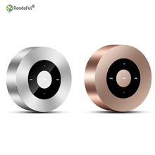 Mobile Phone Wireless Bluetooth Speaker Mini Audio Card-Inserted Touch Screen Portable Subwoofer Metal HIFI Sound Effects