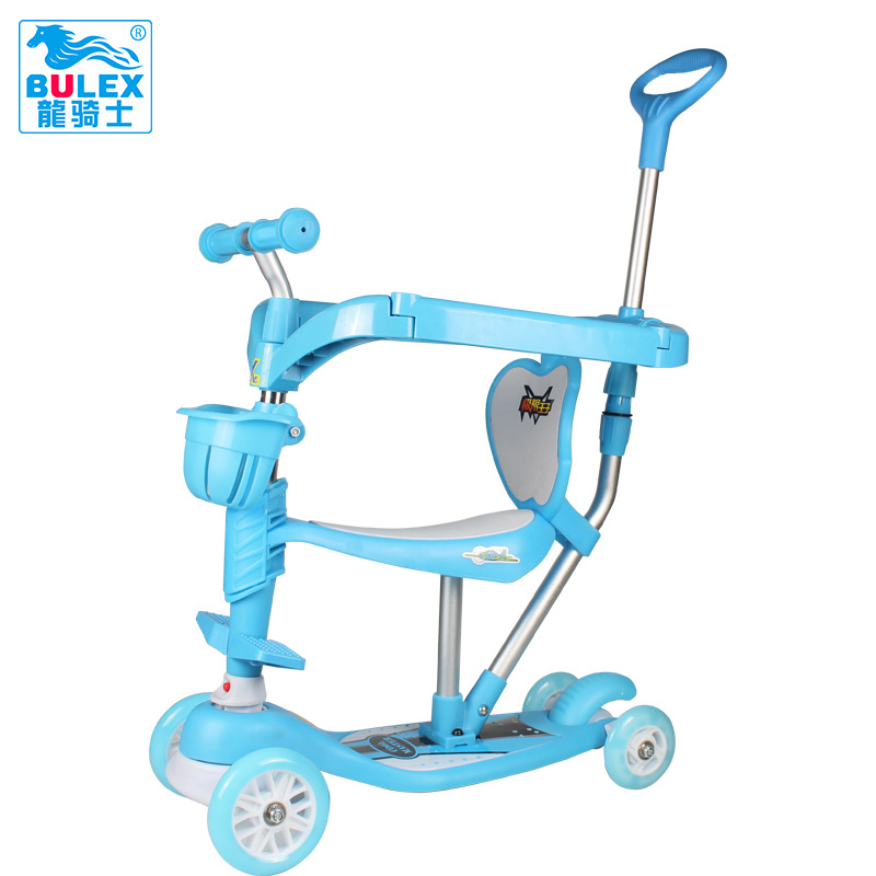 4 in 1 Flash Wheel Music Children 1-6 Years Outdoor Toys Baby Tricycle 3 Wheels Kid Bike Slide Ride on Toy children s tricycle baby pedal childs vehicles children s toys